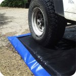 Disinfectant mats for boots, vehicles, animals